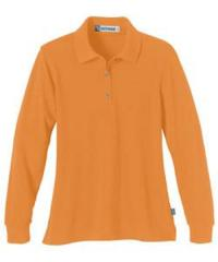 Ladies Long Sleeve Pique Polo with Teflon - Click for Larger Image!